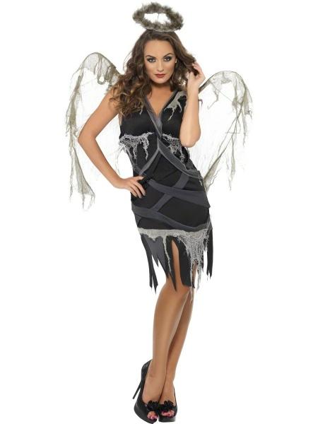 Sexy halloweenský kostým padlého anděla je vhodný na strašidelné 31b72abf8ef