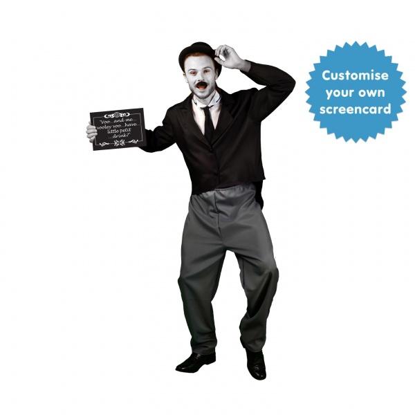 bd6570b30cb1 Kostým Charlie Chaplin - černobílý film - Ptákoviny Karneval