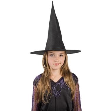 Čarodějnický klobouk dětský - černý - Ptákoviny Karneval dcd5c2c208